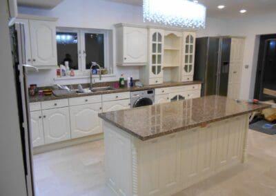 The Kitchen Painter Cheam white cabinets